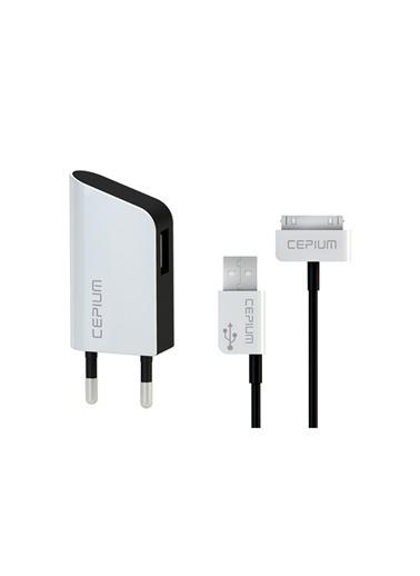 TR-1915/3 Apple Lisanslı iPhone 4/4s 1A Ev Şarj Başlık ve Usb kablo-Cepium